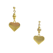 Heart Plate Drop Earrings