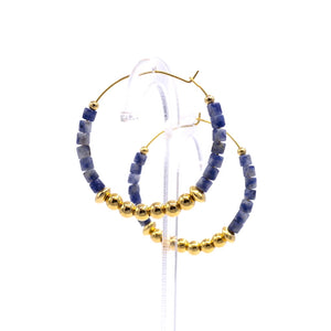 Blue-vein Stone Earrings