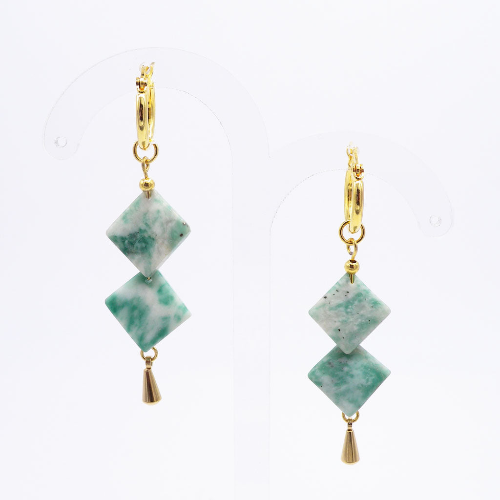 Mojito Squared Drop Earrings