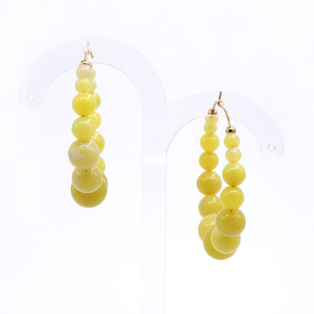 Lemon Jade Beaded Earrings