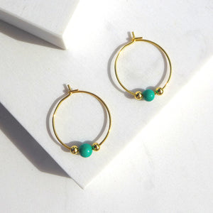 Little Delights Turquoise Hoop Earrings