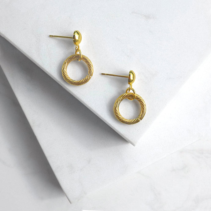 Twisted Hoop Drop Earrings