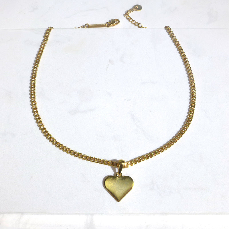Metal Gold Heart Collar Necklace