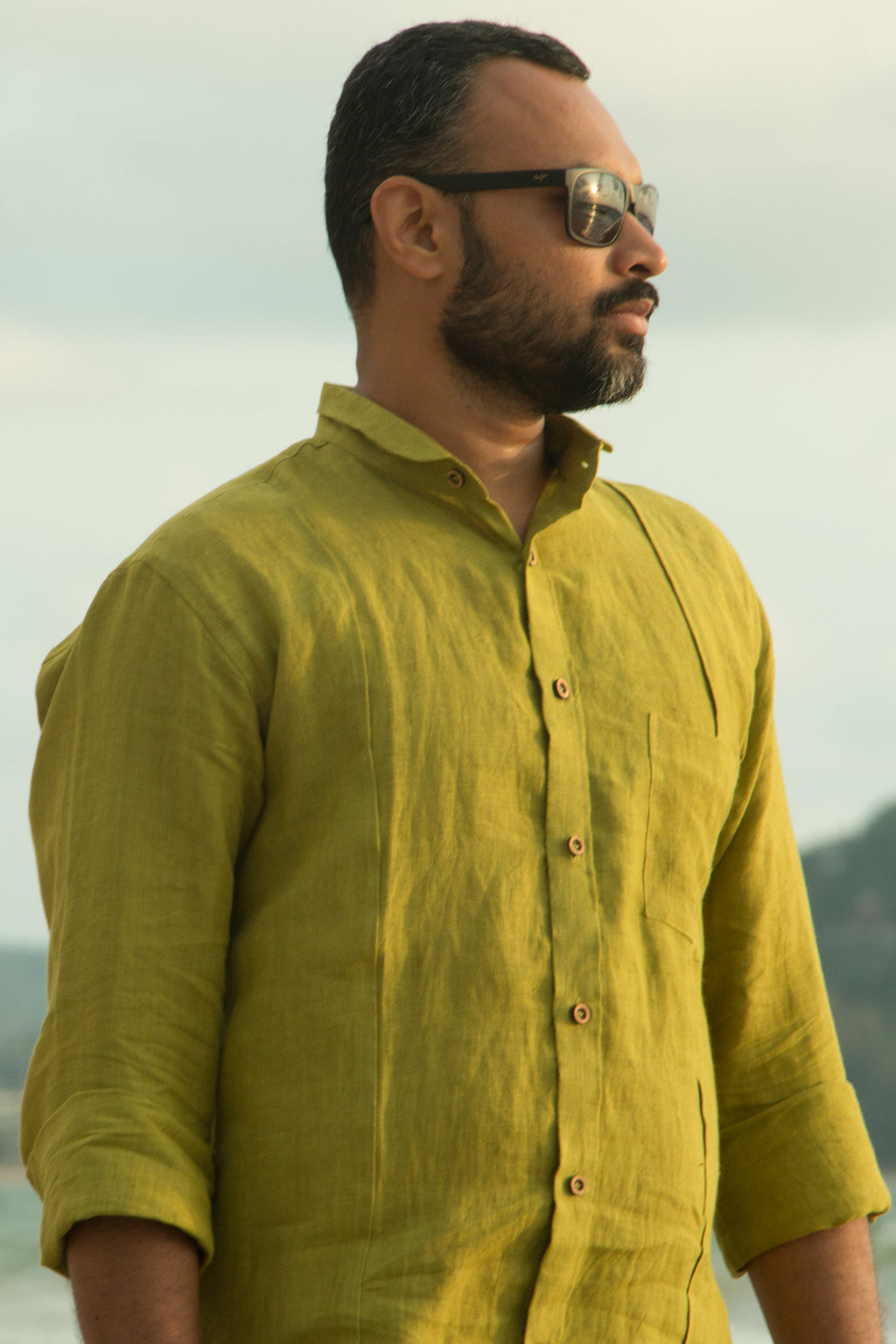 Pure Linen Shirt - Light Green