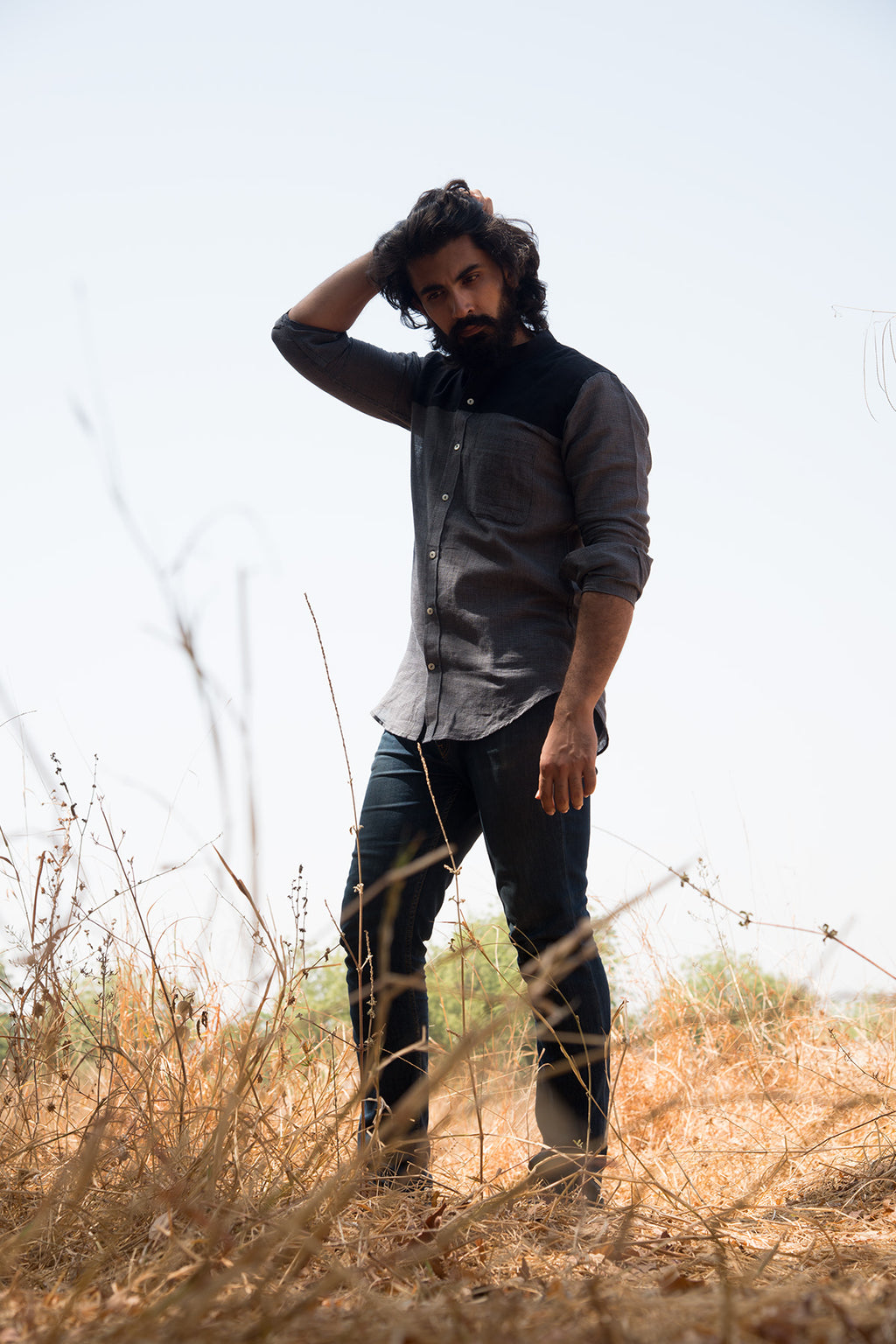 Handcrafted khadi shirts for men