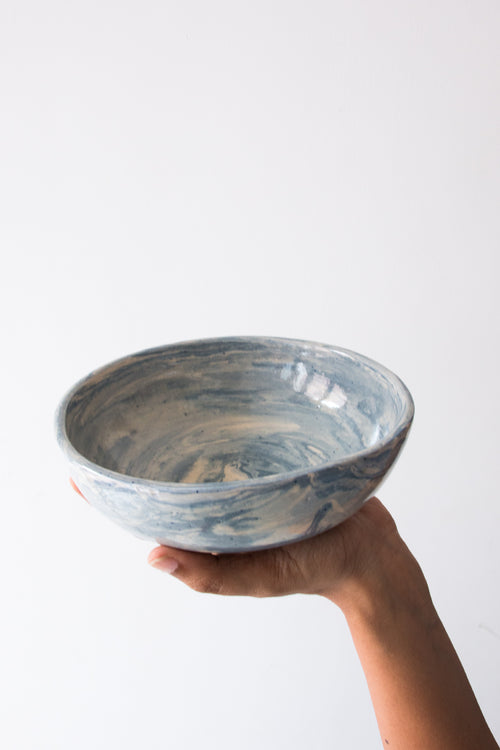 Blue Lace Serving Bowl
