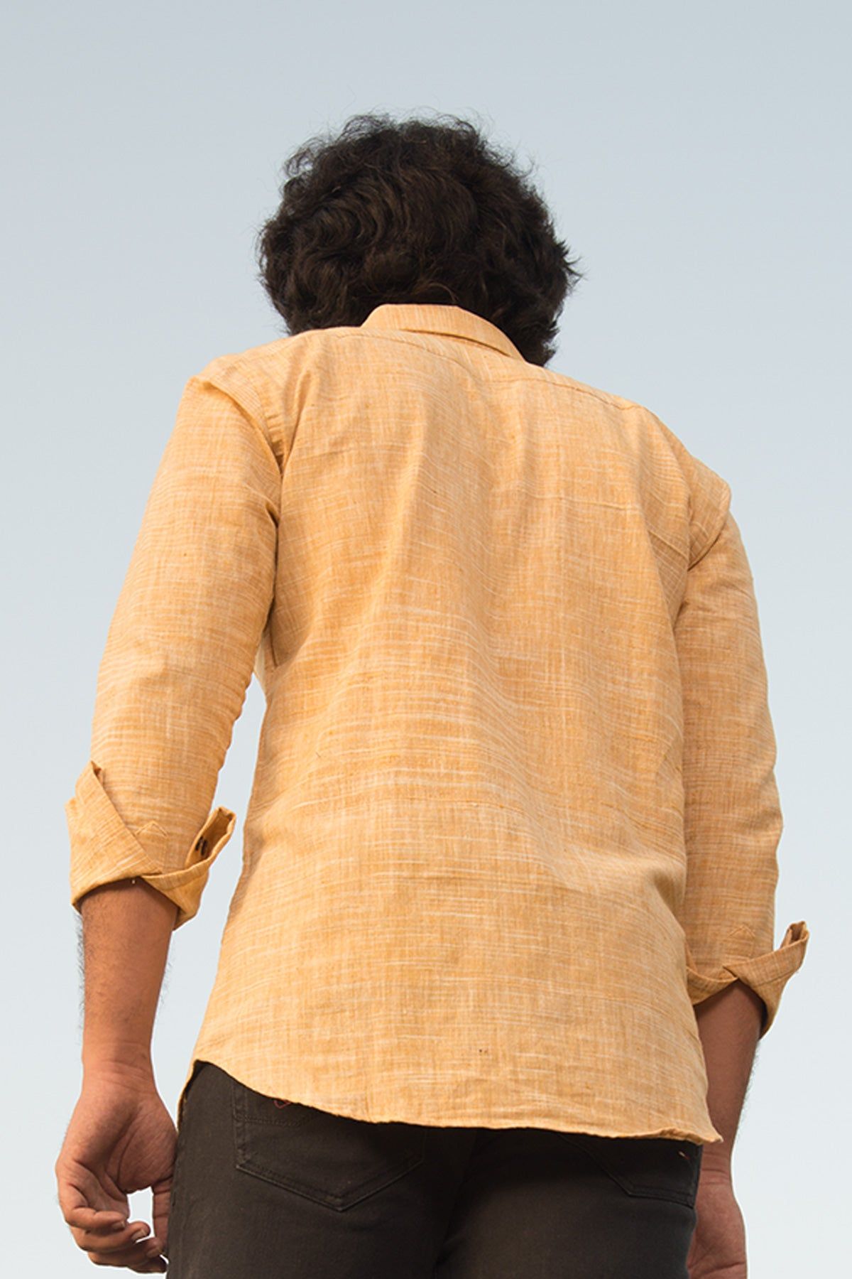 Handcrafted khadi shirts for men, Azo free dye cotton shirts