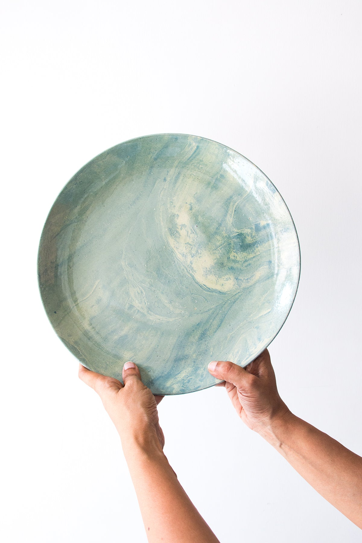 Gorgeous Green Round Platter