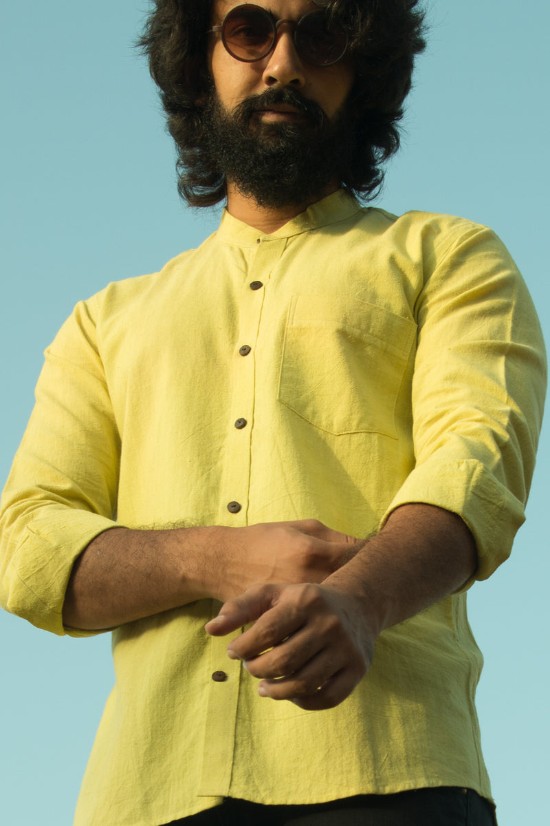 Azo free dye cotton shirts, Handcrafted khadi shirts for men