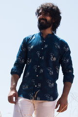 Cotton Printed Shirt, Designer shirt