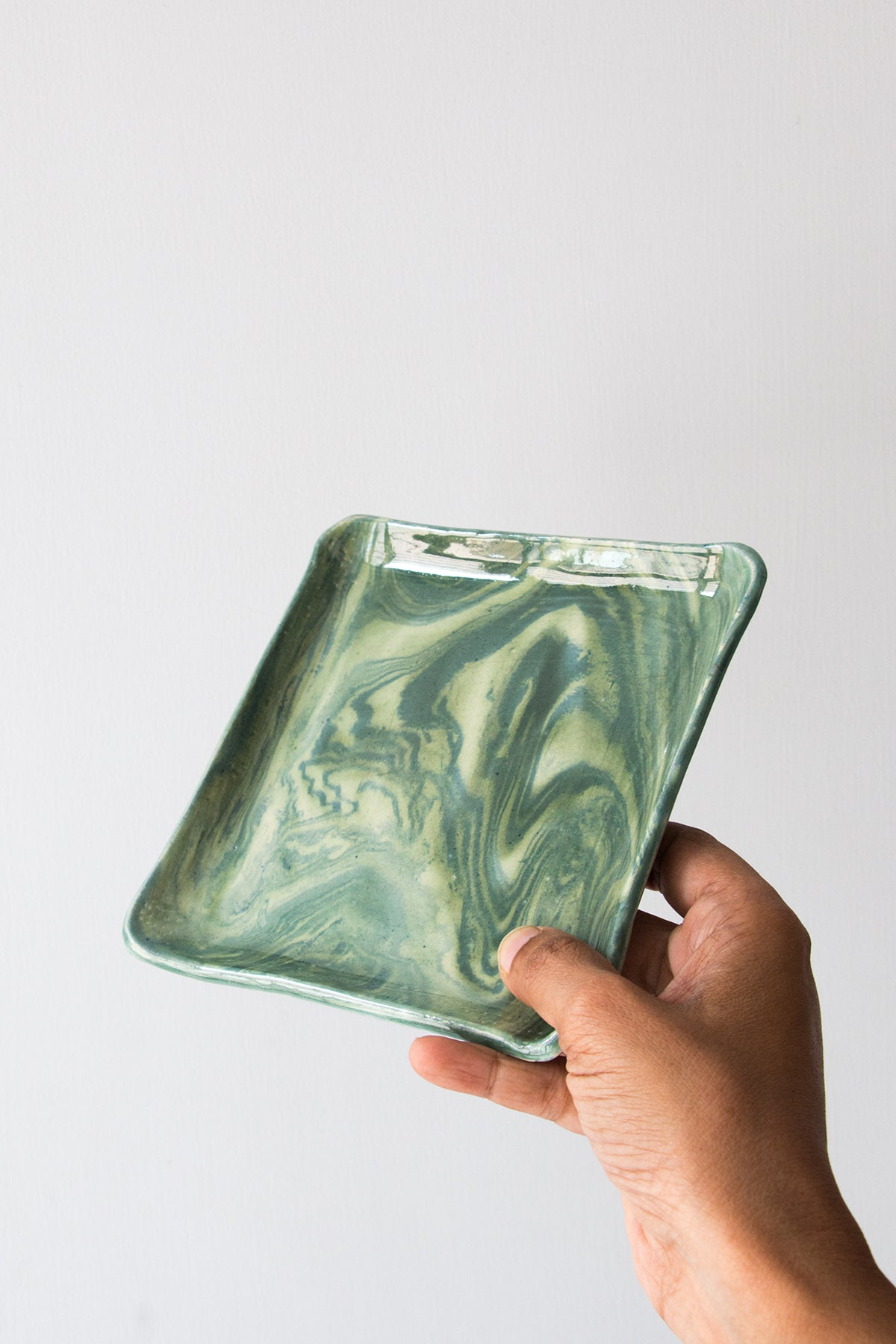 Love Light Green Square Plate