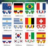 10 Russian 2018 World Cup tattoo stickers 32 sets