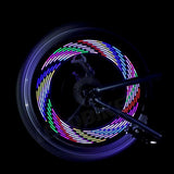 OneGiftForMe colorful bicycle Lights Cycling wheel spoke light 14led 30 pattern waterproof bicycle drop Accessories Bicycle lights