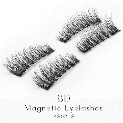 6D Magnetic Lashes Double Magnet Fake Eye Lashes Hand Made Strip Lashes