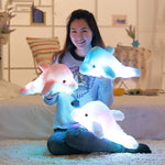 Colorful Led Light Pillow Cushion Cute Dolphin Stuffed Plush Doll Toy