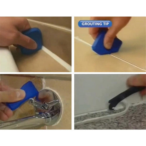 4-Piece Caulking Tool Kit Caulk Finishing Joint Sealant Silicone Grout Remover Scraper