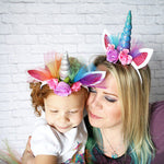 Lovely Flower Unicorn Horn Headdress