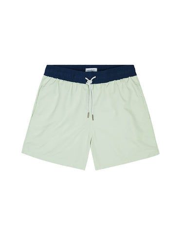 SWIM SHORT - PISTACHIO/NAVY