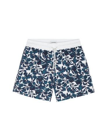 SWIM SHORT - TEAL/NAVY FLORAL