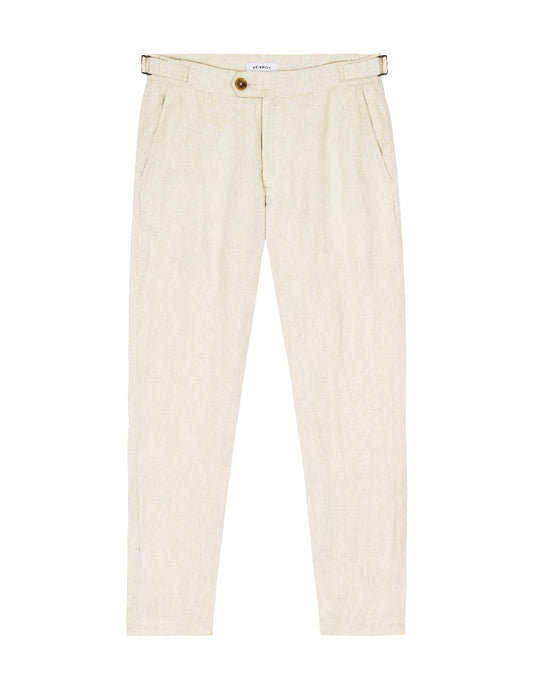 SIDE TAB TROUSER - SAND MARL