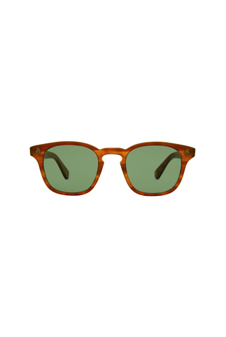 Garrett Leight Ace 47 - Matte Brandy Tortoise Semi Flat Pure Brown