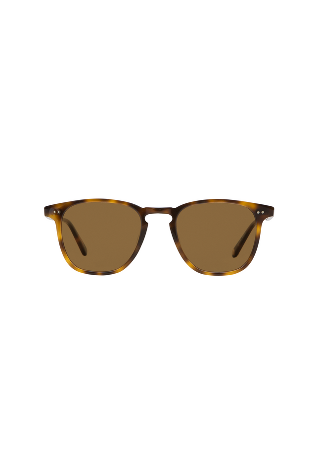 Garrett Leight Brooks 47 - Classic Brown Tortoise Semi Flat Pure Coffee