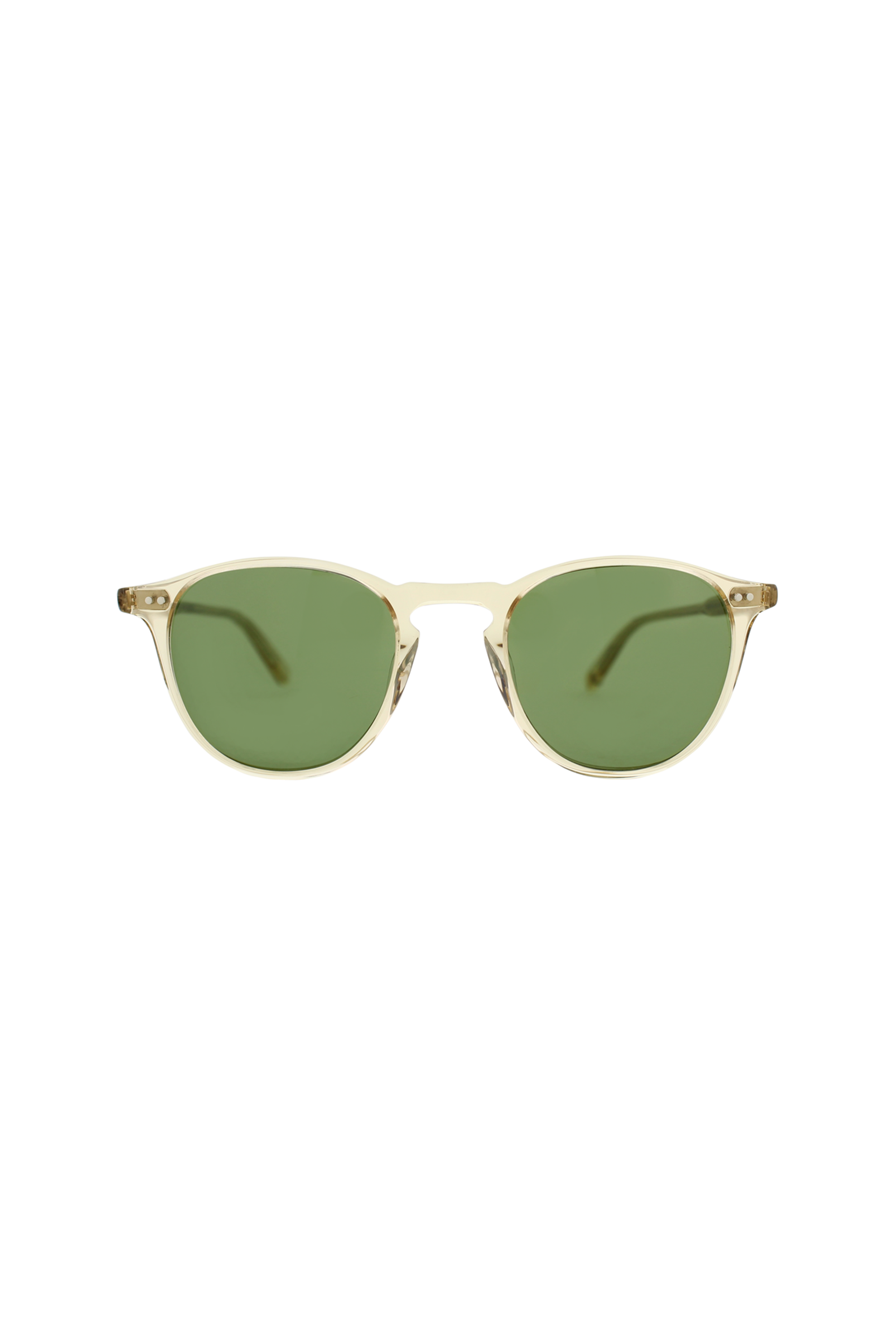 Garrett Leight Hampton 46 - Champagne Pure Green 46