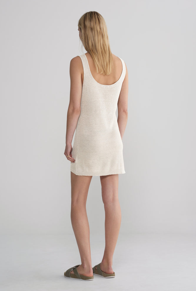 Knitted Mini Dress - Ivory
