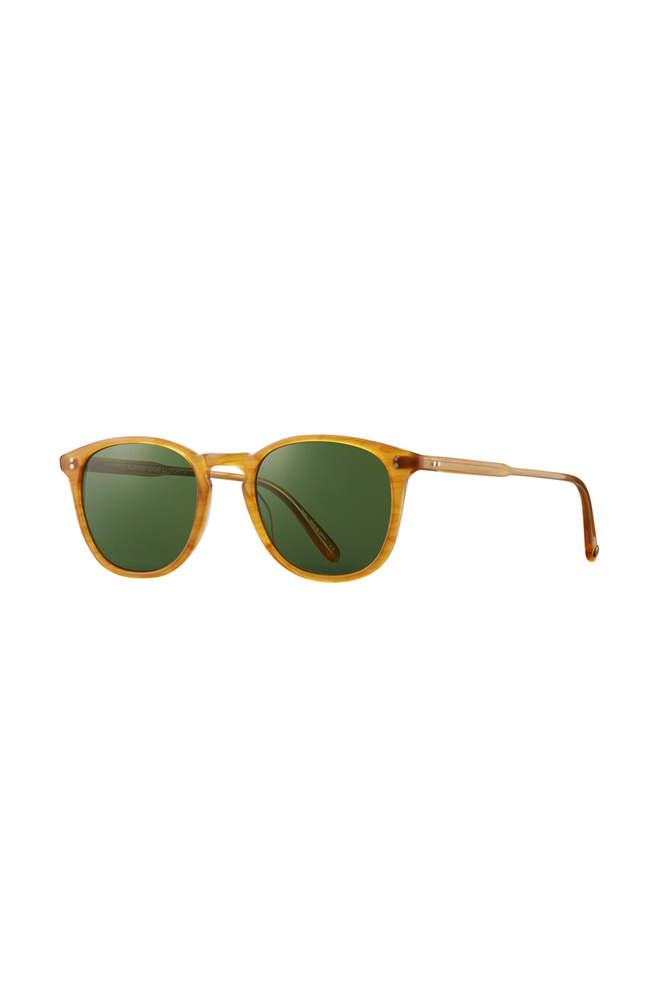 Garrett Leight Kinney 49 - Butterscotch Pure Green