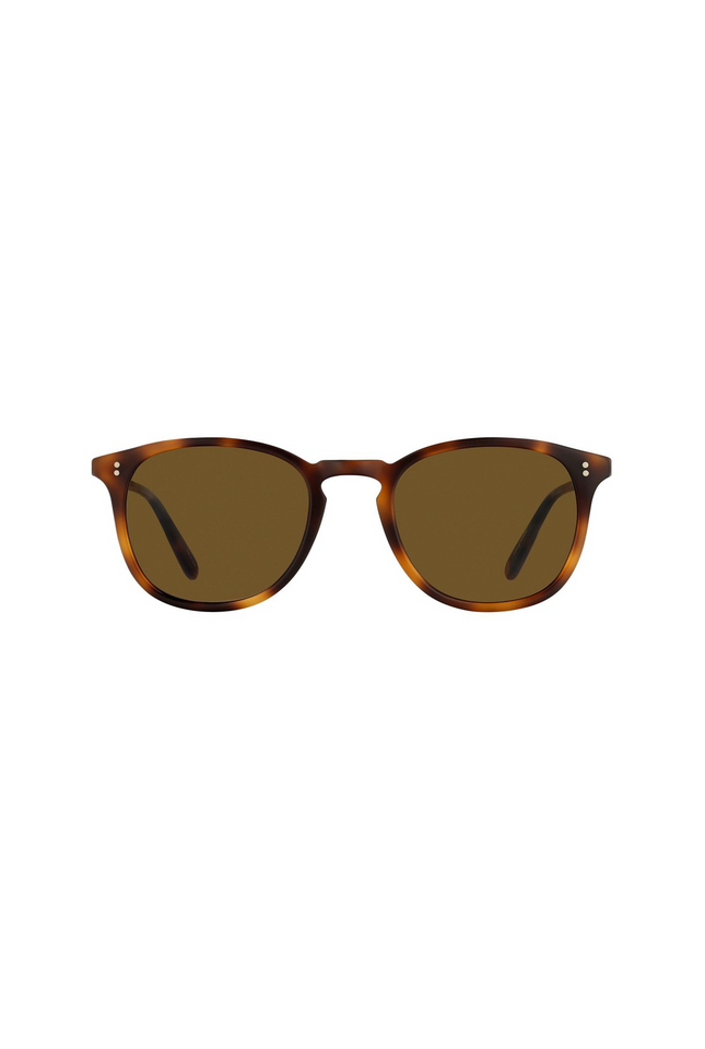 Garrett Leight Kinney 49 - Matte Classic Brown Semi Flat Pure Coffee