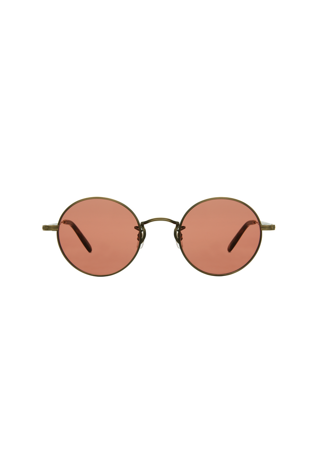 Garrett Leight Lovers 46 - Antique Gold II Brown Marble Tort Pure Brown