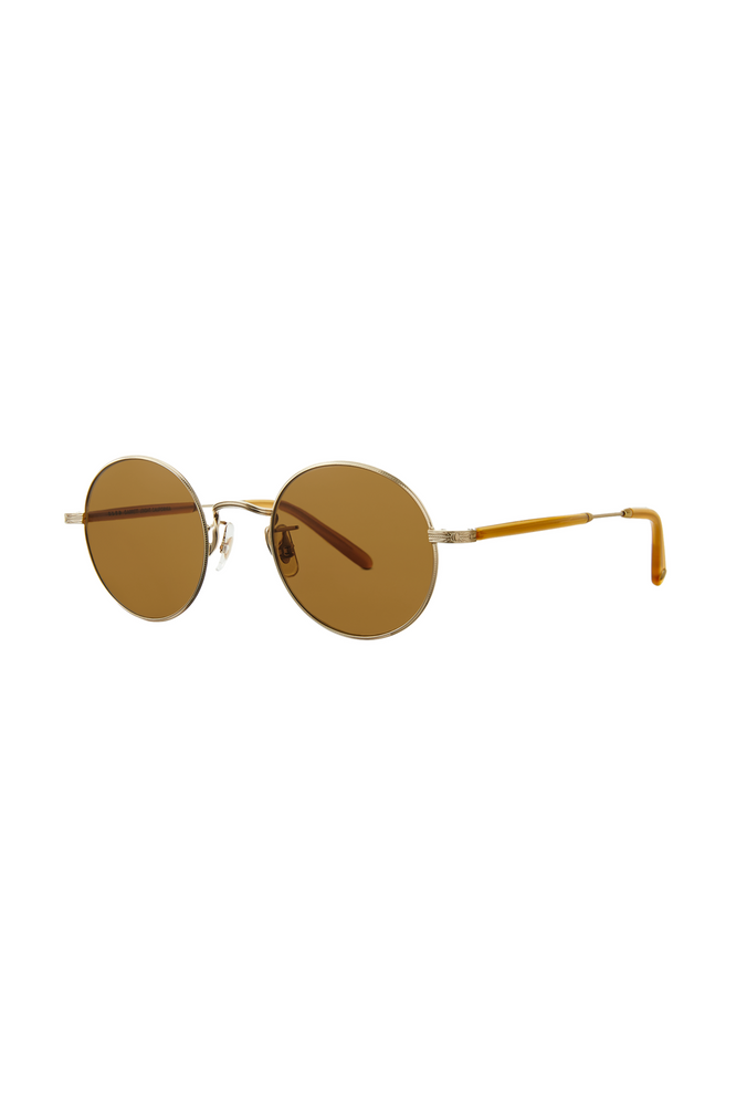 Garrett Leight Lovers 46 - Matte Gold Amber Honey Pure Brown