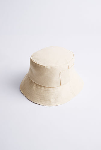 Denim Bucket Hat - Off White