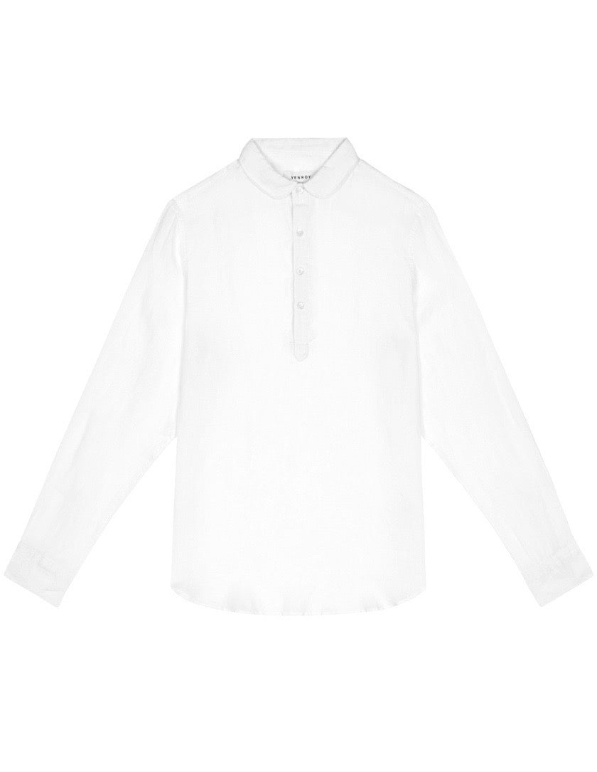 Pop Over Shirt - White