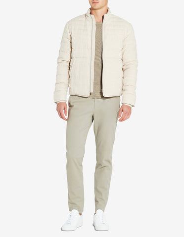 LINEN DOWN JACKET - SAND MARL