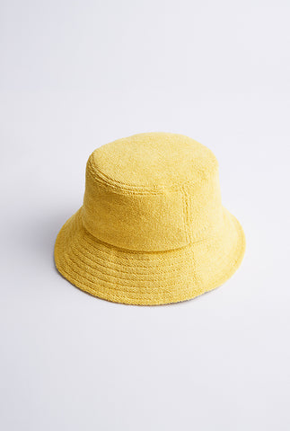 Woven Terry Bucket Hat - Lemon