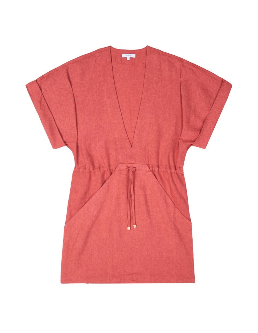 Womens Linen Robe Dress - Pinot