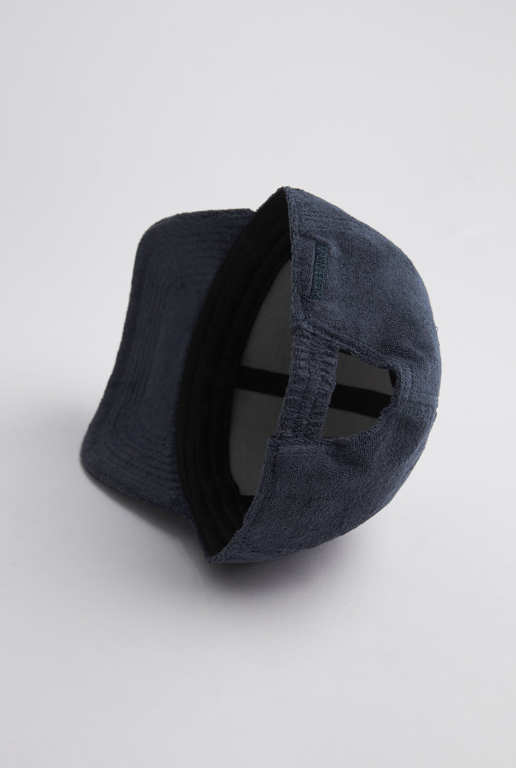 Terry Towel Cap - Navy