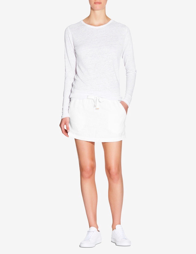 Womens Lounge Skirt - White