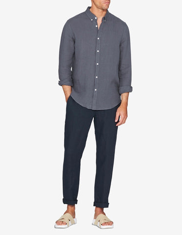 LINEN SHIRT - SMOKE GREY
