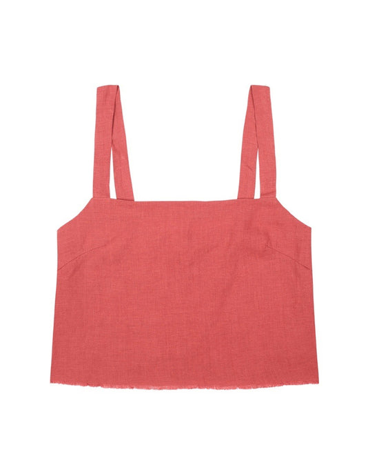 Womens Cropped Singlet Top - Pinot