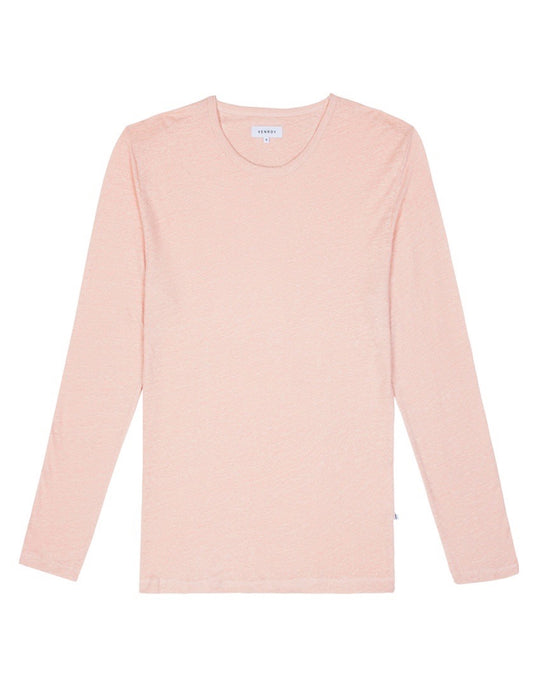 Linen LS T Shirt - Dusty Pink