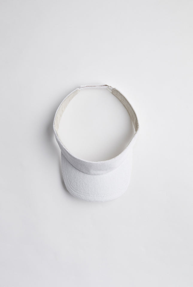 Terry Towel Visor - White
