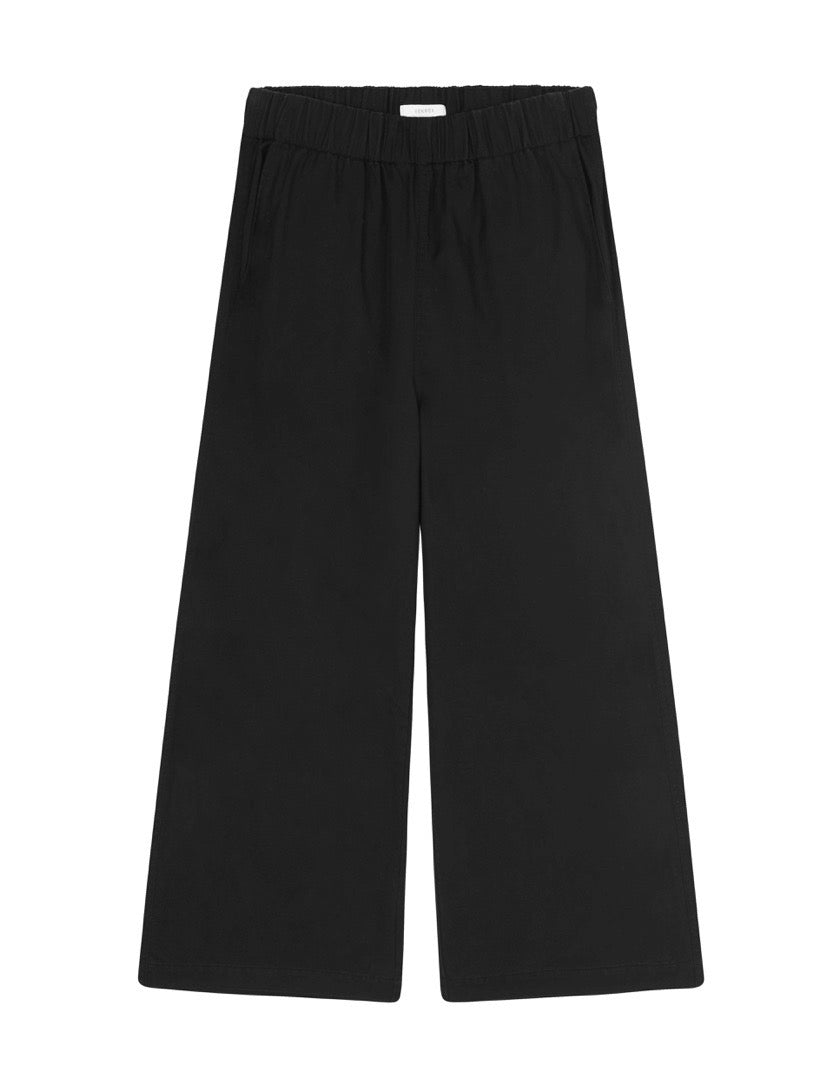 WOMENS TENCEL WIDE LEG PANT - BLACK