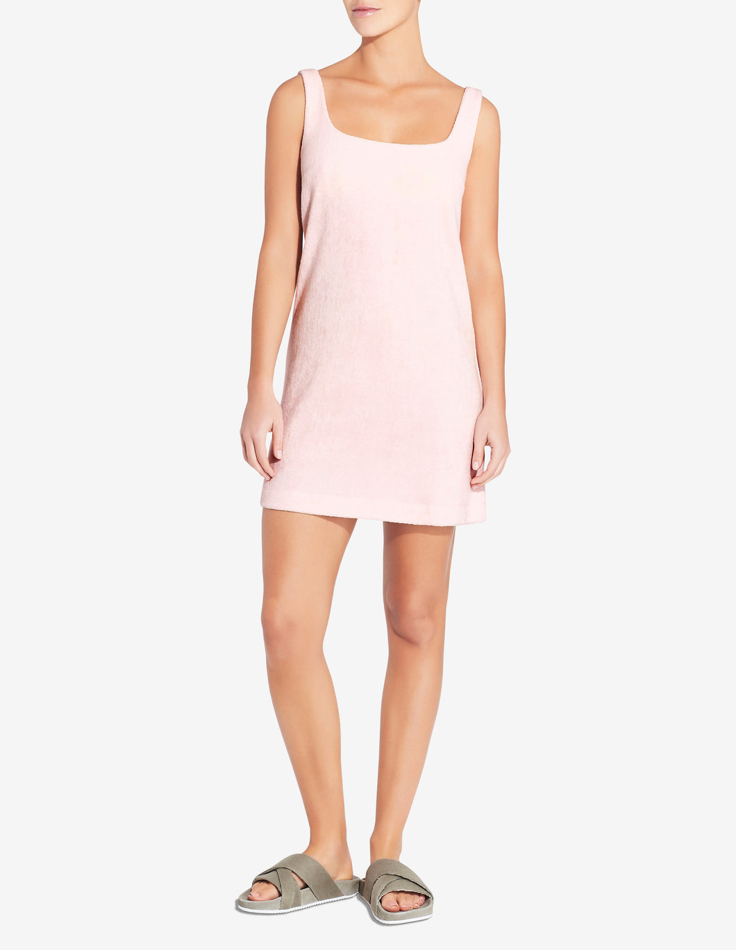 Terry Towel Mini Dress - Light Pink