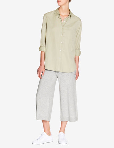 WOMENS OVERSIZED TENCEL SHIRT - SAGE