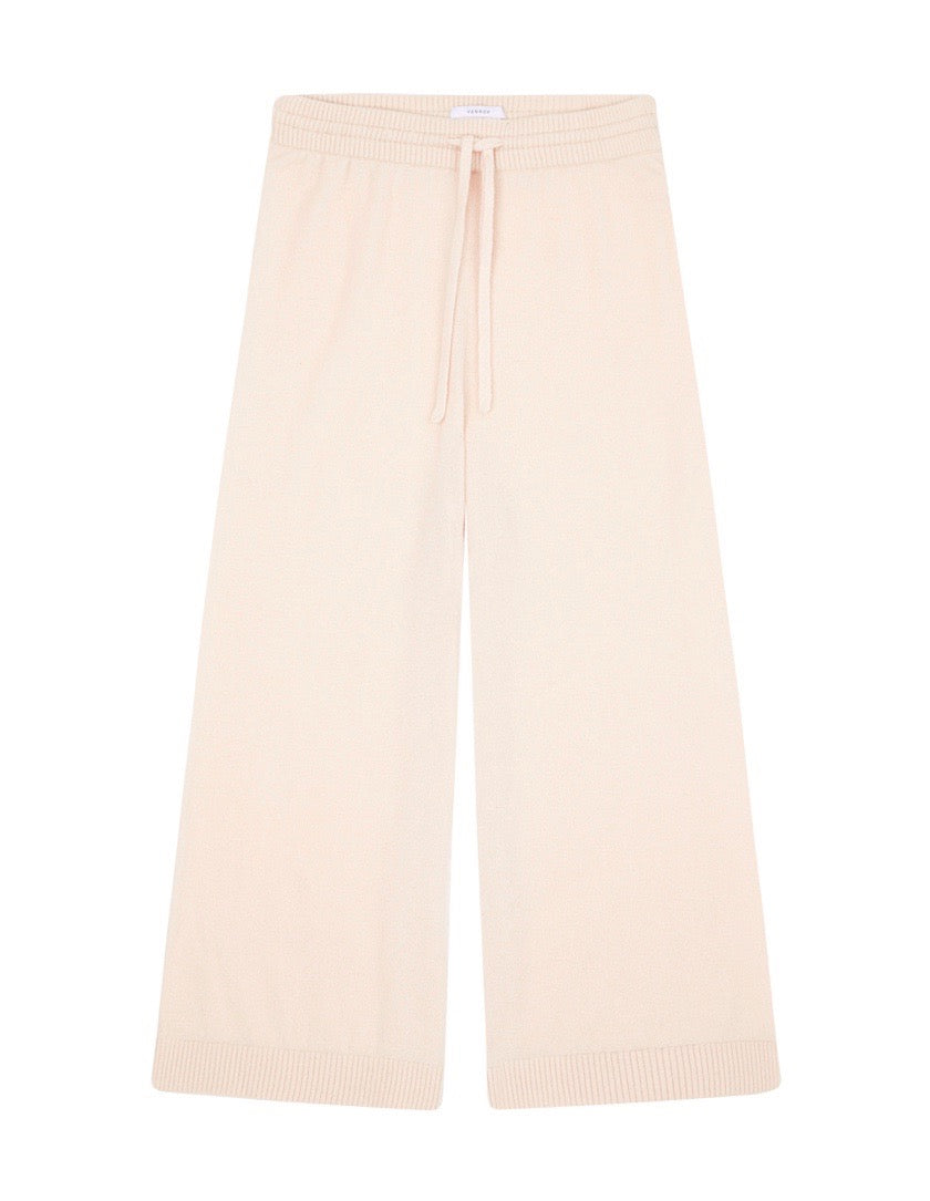 WOMENS KNITTED CASHMERE PANT - LIGHT PINK
