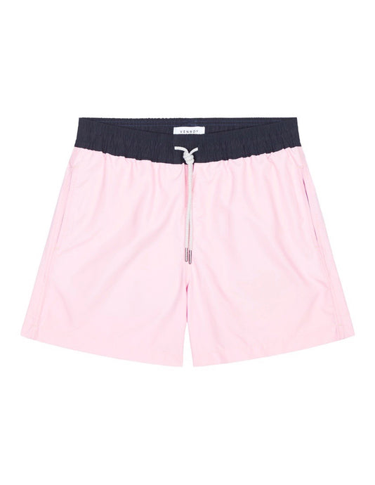 Swim Short - Pink / Navy Band