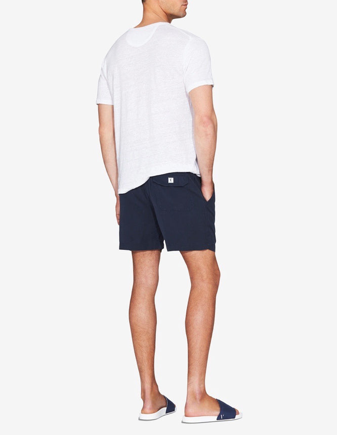 TENCEL LOUNGE SHORT - NAVY