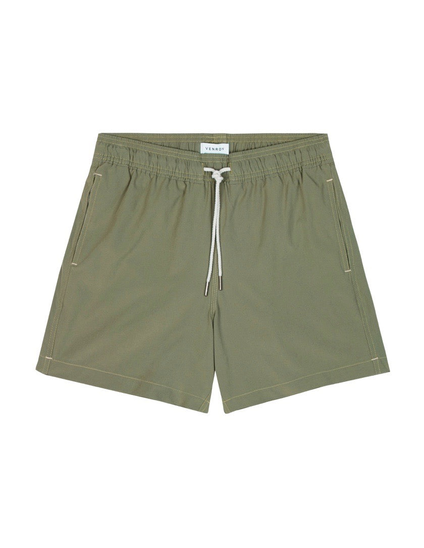 Swim Short - Olive Stretch